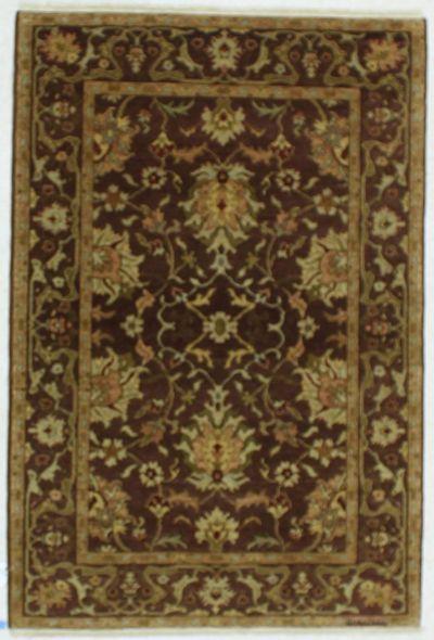 BURGUNDY Esme Rug #535 • 4′2″ x 6′1″ • 100% Wool