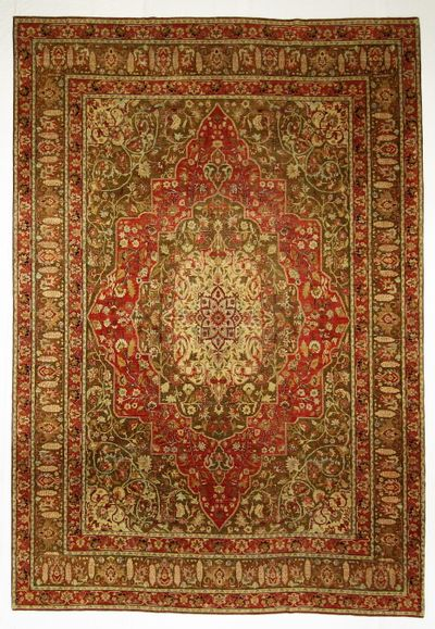 Red Sultanabad Rug #8408 • 10′11″ x 15′11″ • Wool on Cotton