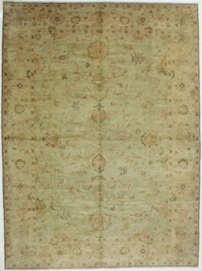 Light Blue Karaman Rug #548 • 9′1″ x 12′3″ • 100% Wool