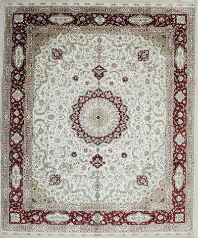 Ivory IMZALI Rug #2278 • 8′3″ x 10′0″ • 100% Silk