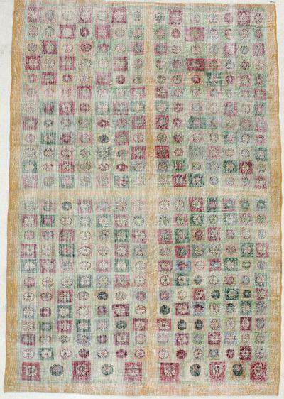 Multicolor Modern Rug #1952 • 6′2″ x 9′0″ • 100% Wool