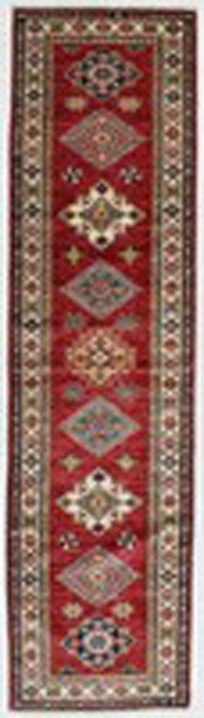 Red Kazak Rug #828 • 2′6″ x 9′5″ • 100% Wool
