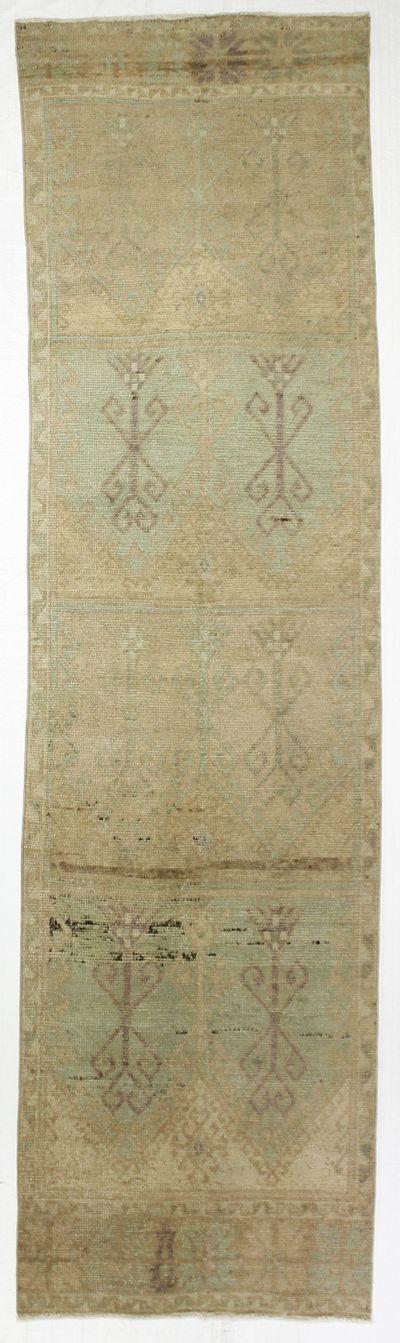 Green Konya Rug #7966 • 3′5″ x 12′6″ • 100% Wool