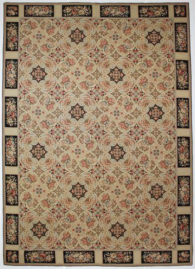 Ivory Kilim Rug #7197 • 10′1″ x 14′1″ • 100% Wool