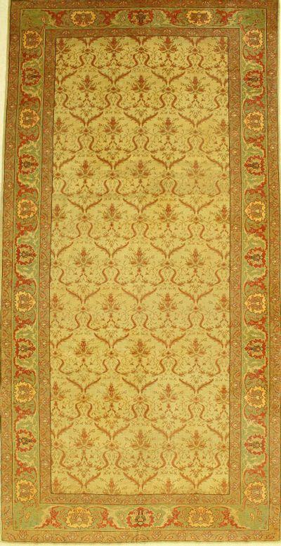 Ivory Sivas Rug #596 • 6′4″ x 12′9″ • 100% Wool