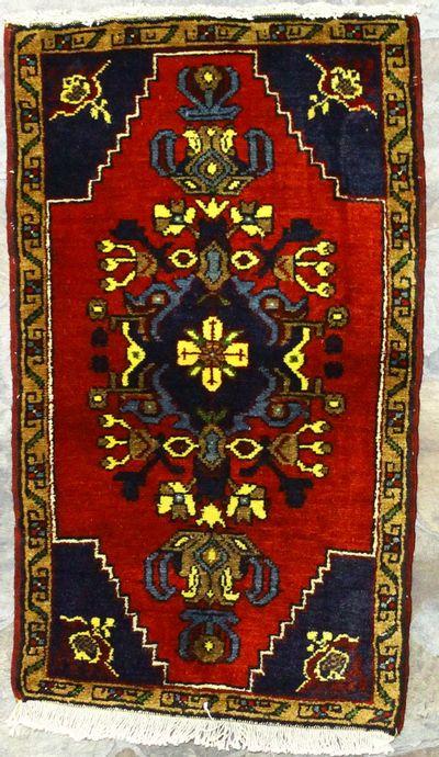 Red Konya Rug #911 • 1′9″ x 3′0″ • 100% Wool