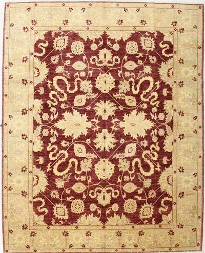 Red Ushak Rug #7429 • 8′3″ x 10′4″ • 100% Wool