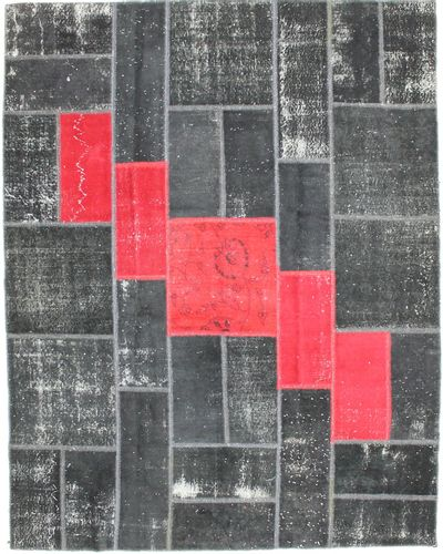 Black Over Dyes Rug #2083 • 7′9″ x 9′10″ • 100% Wool