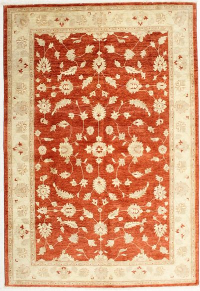 Rust Ushak Rug #2052 • 6′8″ x 9′9″ • Wool on Cotton