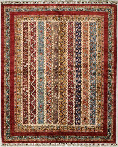 Multicolor Shall Rug #8207 • 5′1″ x 6′8″ • 100% Wool