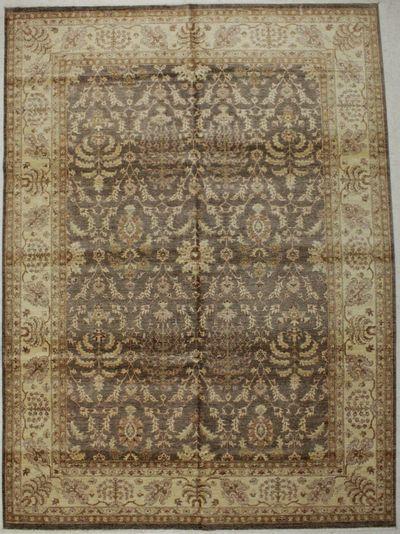 Brown Ushak Rug #8717 • 8′10″ x 12′0″ • 100% Wool