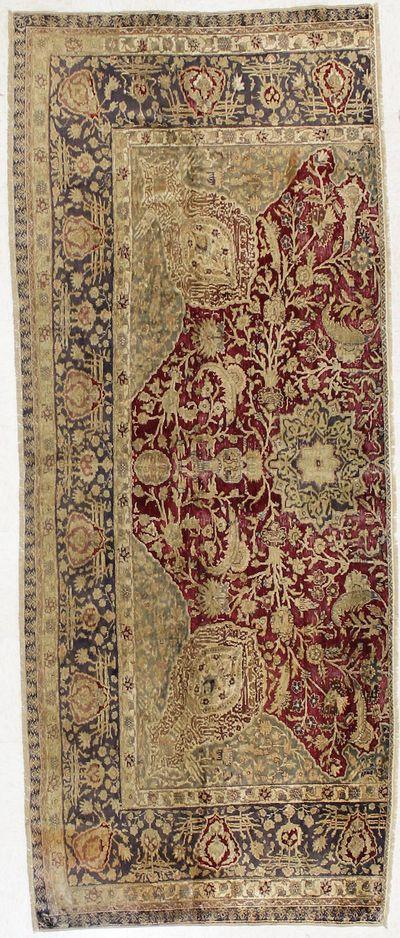 Red SILK Rug #1576 • 3′6″ x 8′9″ • 100% Silk