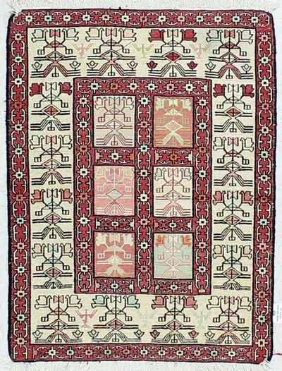 Red Sumak Rug #431 • 2′4″ x 3′2″ • 100% Wool