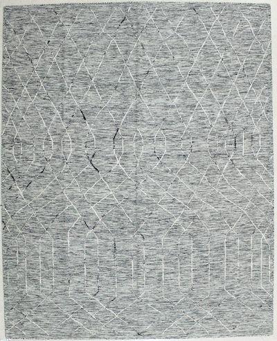 Gray Modern Rug #1984 • 8′0″ x 10′0″ • 100% Wool