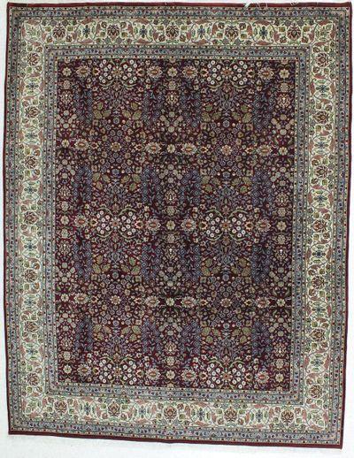 Red Hereke Rug #408 • 8′1″ x 10′2″ • Wool on Cotton