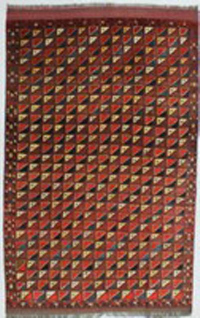 Multicolor Yamut Rug #801 • 6′4″ x 10′1″ • 100% Wool