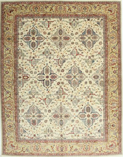 Ivory Sivas Rug #1485 • 10′3″ x 13′2″ • 100% Wool
