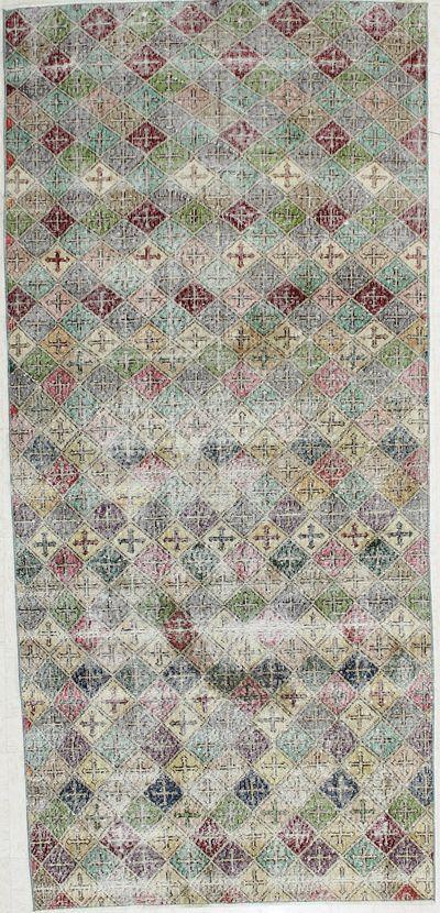 Multicolor Modern Rug #1955 • 3′10″ x 8′6″ • 100% Wool