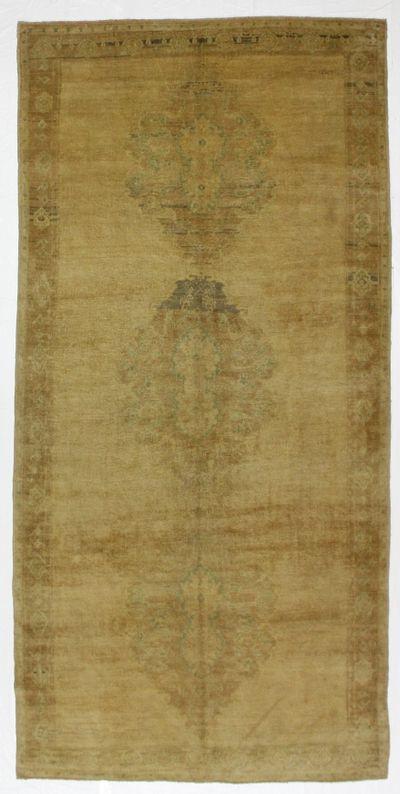 Ivory Konya Rug #1003 • 5′4″ x 10′11″ • 100% Wool