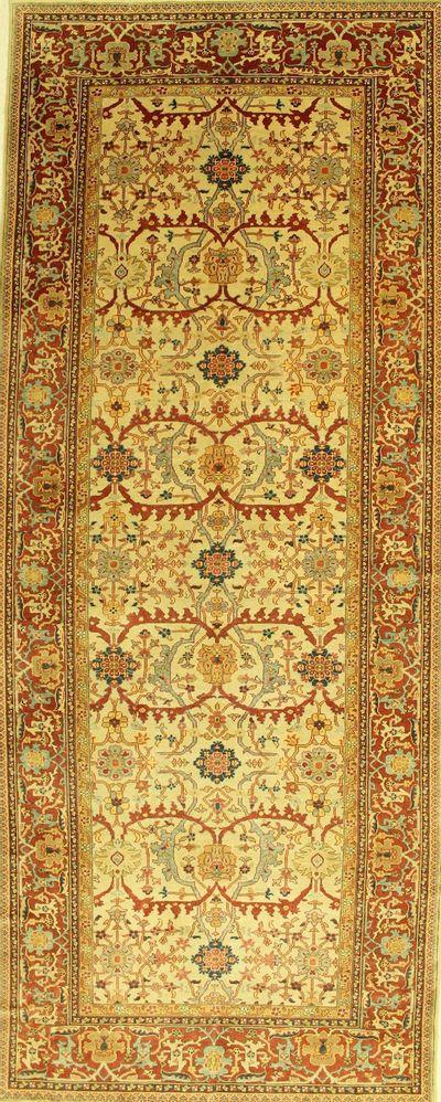 Ivory Sivas Rug #594 • 6′3″ x 15′6″ • 100% Wool