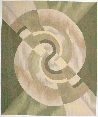 Green Modern Rug #1472 • 8′5″ x 10′2″ • Wool on Cotton