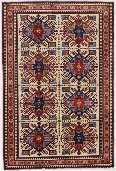Ivory Shirvan Rug #1604 • 4′5″ x 6′6″ • 100% Wool