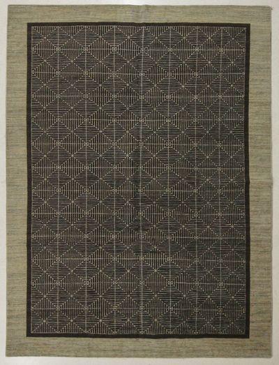 Brown Modern Rug #7666 • 8′8″ x 11′4″ • 100% Wool