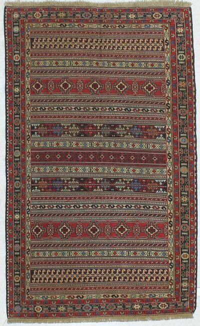 Red Kilim Rug #440 • 4′2″ x 6′10″ • 100% Wool