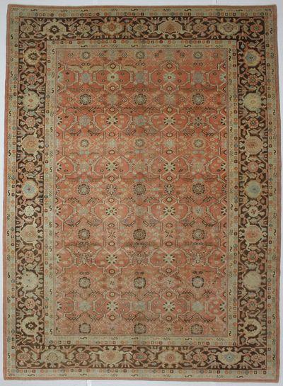 Rust Sultanabad Rug #8439 • 9′8″ x 13′6″ • 100% Wool