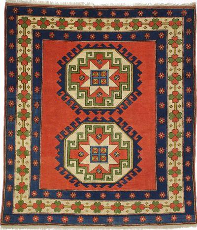 PINK Mus Rug #8832 • 6′2″ x 7′0″ • 100% Wool