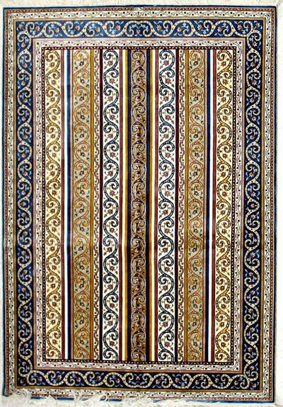 Multicolor Cezaevi Rug #2585 • 4′1″ x 5′11″ • 100% Silk