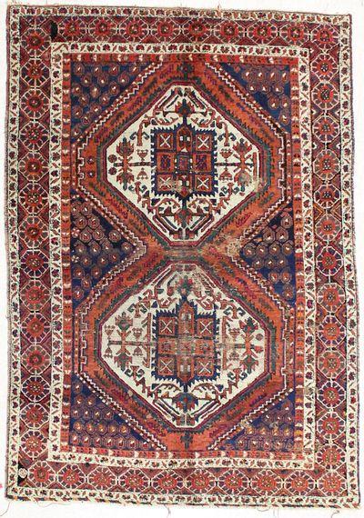 Multicolor Shirvan Rug #2090 • 4′10″ x 7′0″ • 100% Wool
