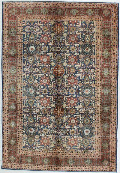 NAVY Hereke Rug #479 • 5′3″ x 7′9″ • Wool on Cotton