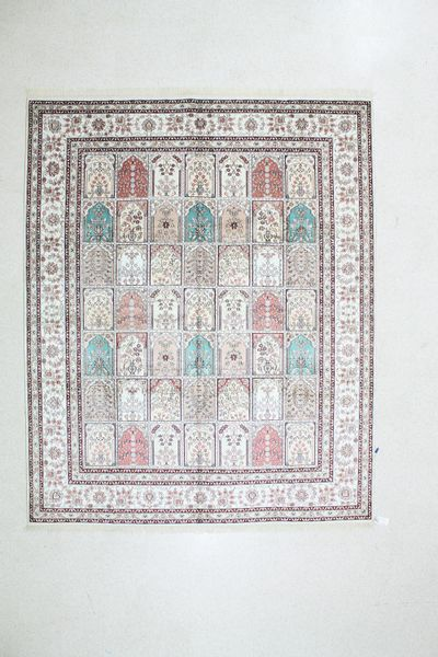 Ivory Spon Rug #504 • 8′0″ x 10′0″ • Silk on Cotton