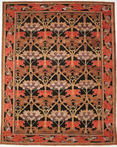 Black Modern Rug #8414 • 10′1″ x 12′10″ • 100% Wool