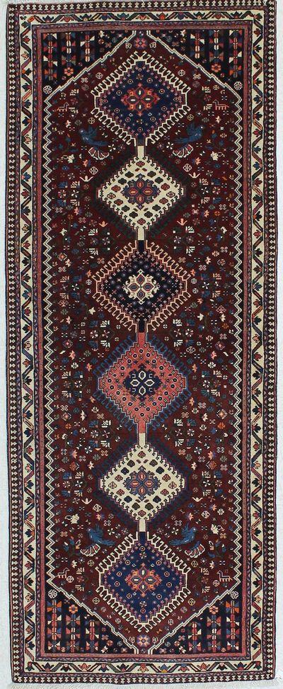 Red Karacah Rug #263 • 3′9″ x 9′7″ • Wool on Cotton