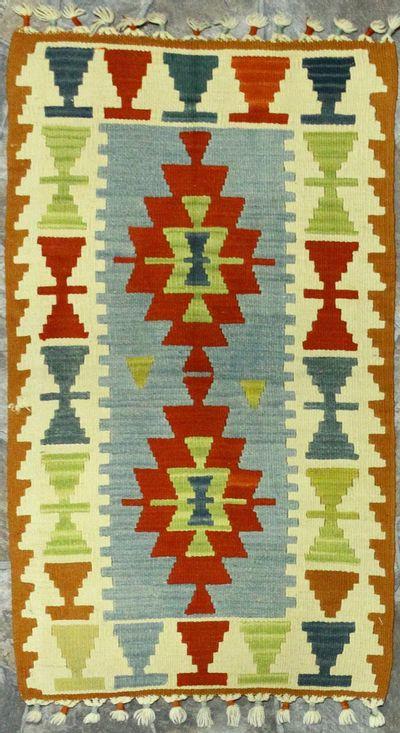 Multicolor Kilim Rug #870 • 2′1″ x 3′1″ • 100% Wool