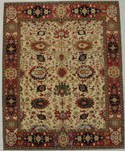 Ivory Ottoman Rug #8694 • 7′11″ x 9′10″ • 100% Wool