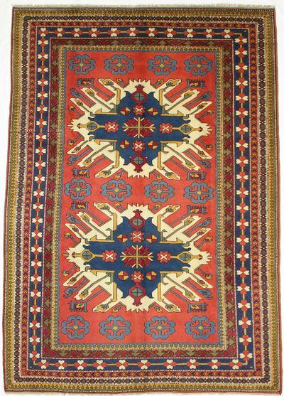 Rust Konya Rug #1376 • 7′9″ x 11′1″ • 100% Wool