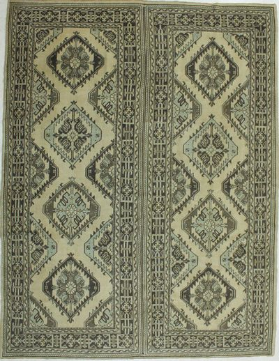 Ivory Konya Rug #1025 • 9′2″ x 12′0″ • 100% Wool