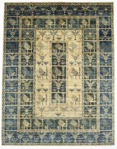 Ivory FARYAB Rug #6934 • 8′1″ x 10′4″ • 100% Wool