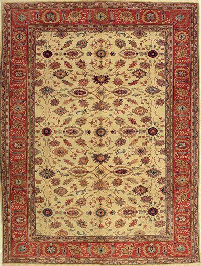 Ivory Sivas Rug #578 • 8′2″ x 10′8″ • 100% Wool