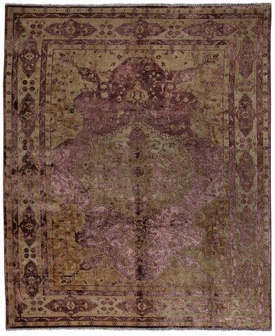 Purple Ushak Rug #1424 • 8′1″ x 10′2″ • Wool on Silk