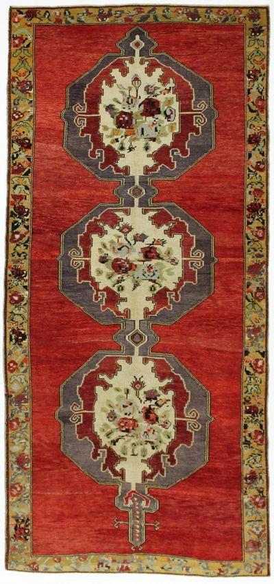 Red Konya Rug #980 • 5′4″ x 11′6″ • 100% Wool