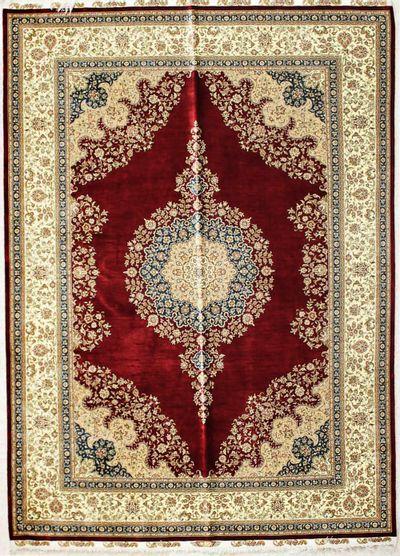 Red Cezaevi Rug #2601 • 5′7″ x 7′9″ • 100% Silk