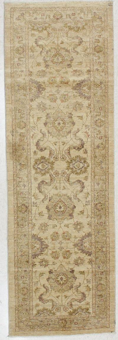 Ivory Ushak Rug #1783 • 3′0″ x 9′2″ • 100% Wool
