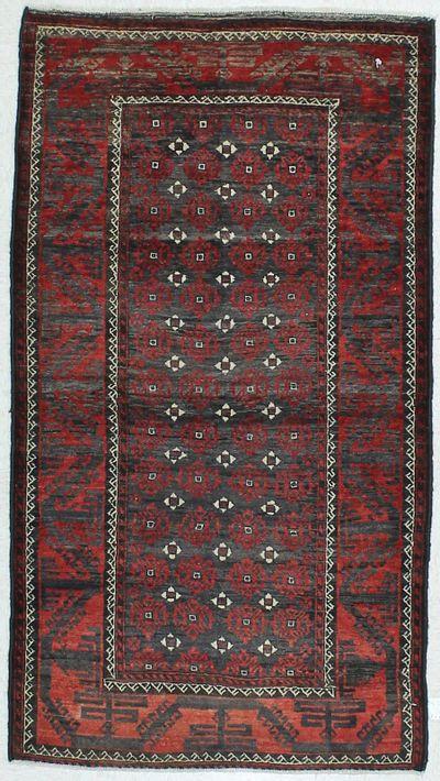 Red Beluch Rug #445 • 3′5″ x 6′1″ • 100% Wool