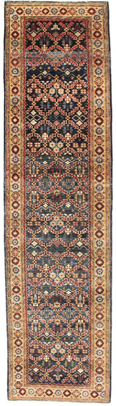 NAVY FARYAB Rug #6827 • 2′9″ x 10′5″ • 100% Wool