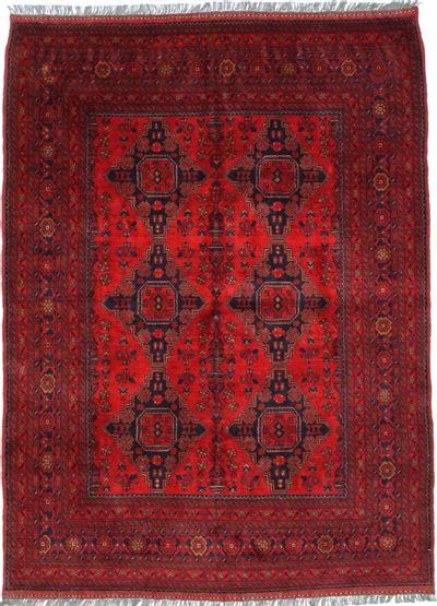Red Kunduz Rug #418 • 5′7″ x 7′6″ • 100% Wool