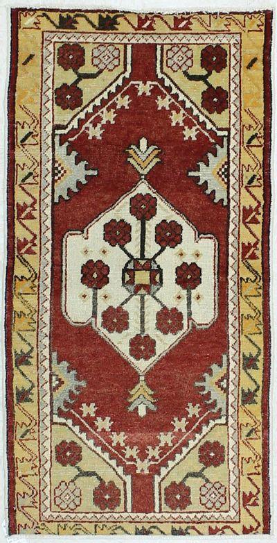 Red Konya Rug #54 • 2′8″ x 5′2″ • 100% Wool